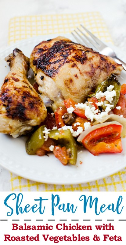 balsamic chicken and veggies with feta cheese