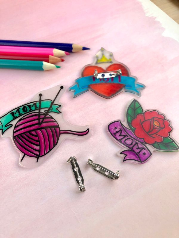 diy mothers day shrinky dinks