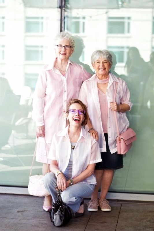 how to style a sheer pink blouse