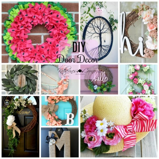 welcome guests diy door decor