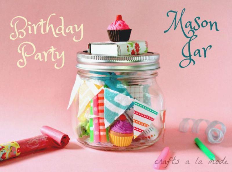 birthday party in a jar