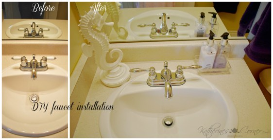faucet installation before and after