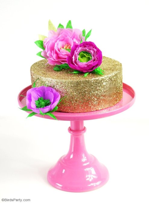 paper flower cake toppers