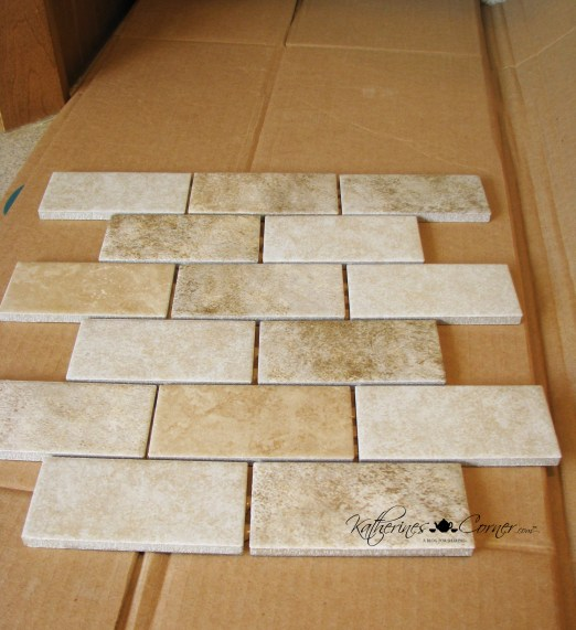 lay out tile on a template