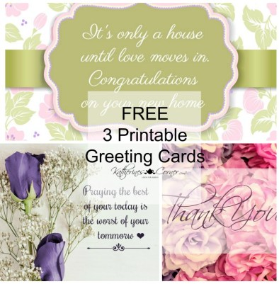 Purple Printable Greeting Cards