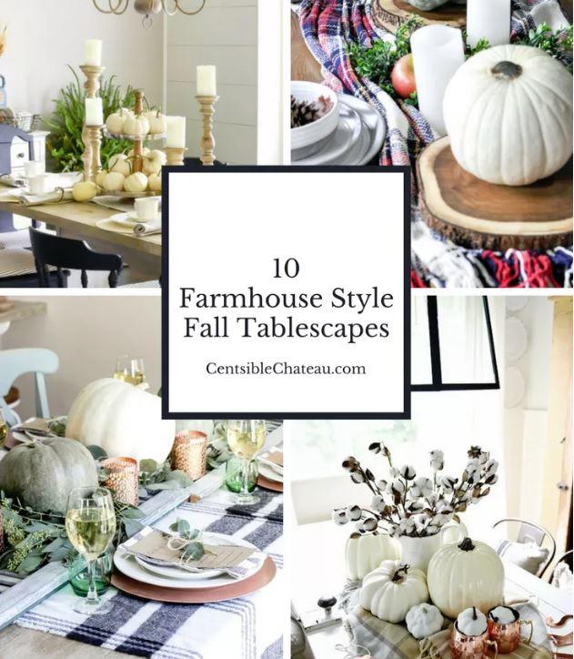 farmhouse tablescapes