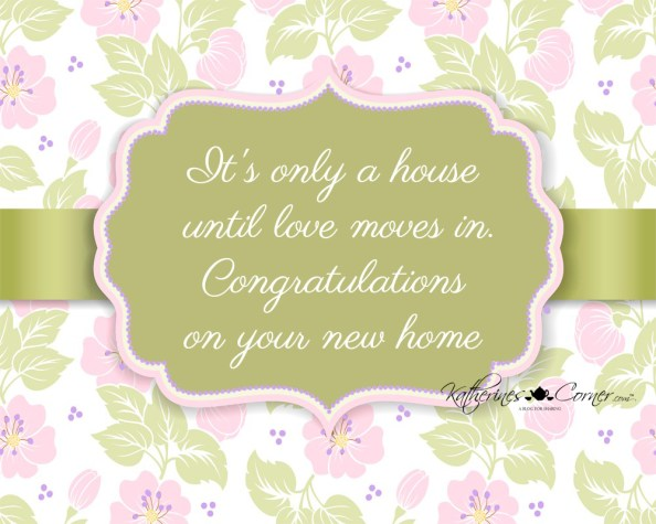purple printable greeting card new home