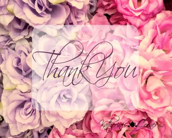 free purple printable greeting card thank you