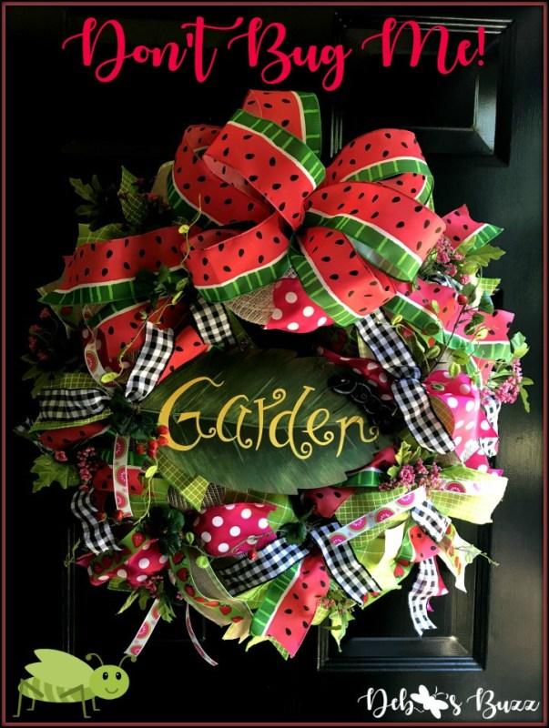 diy summer garden wreath