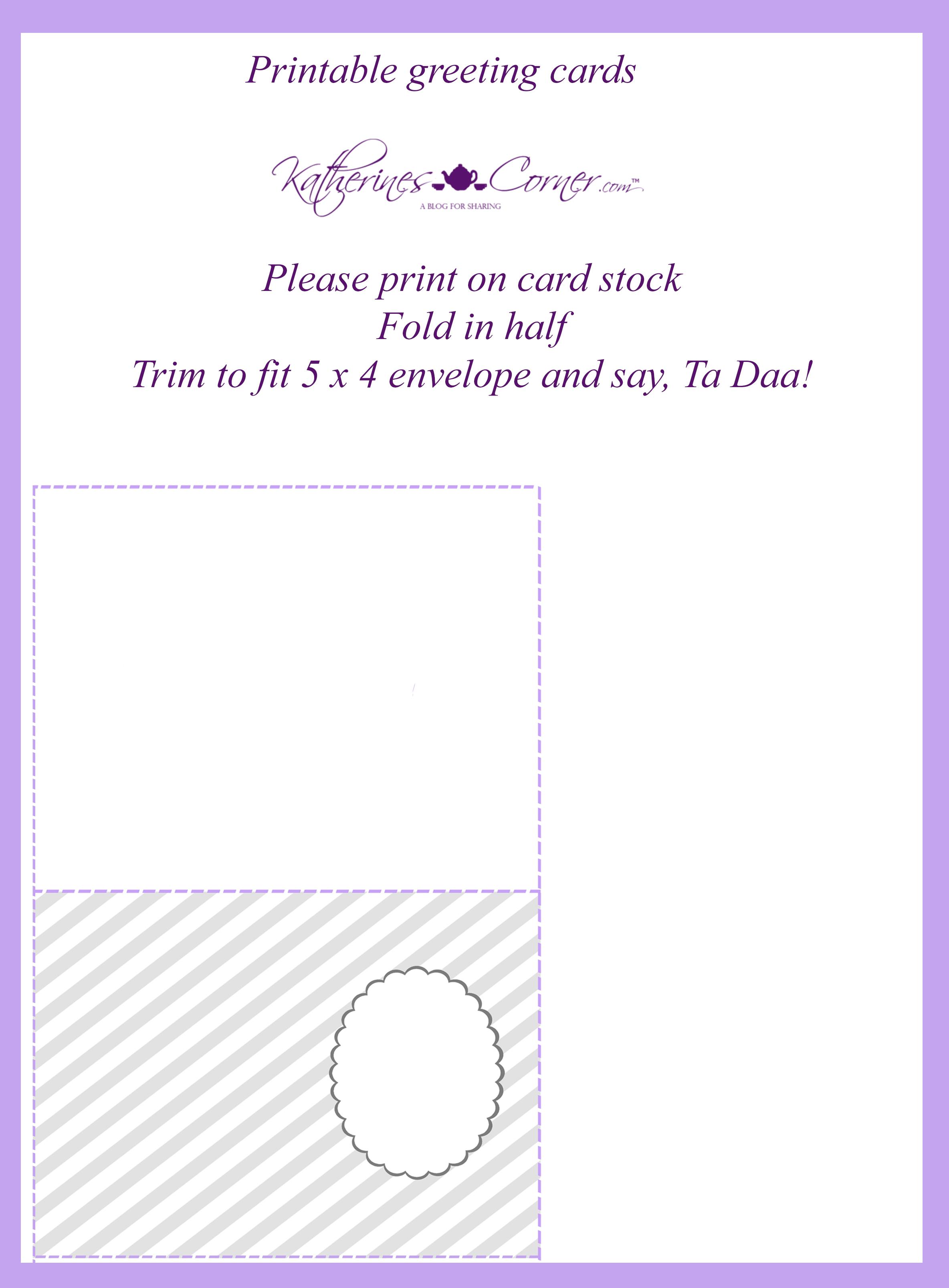 image about Printable Greeting Card Stock known as 3 Crimson Printable Greeting Playing cards - Katherines Corner