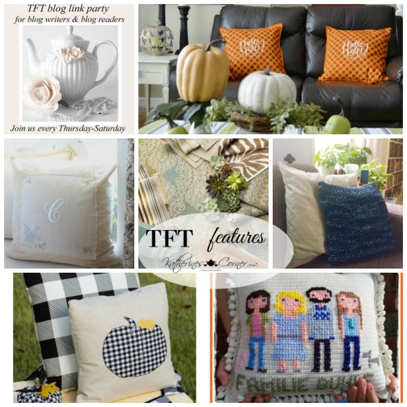 DIY pretty pillow features at TFT link party