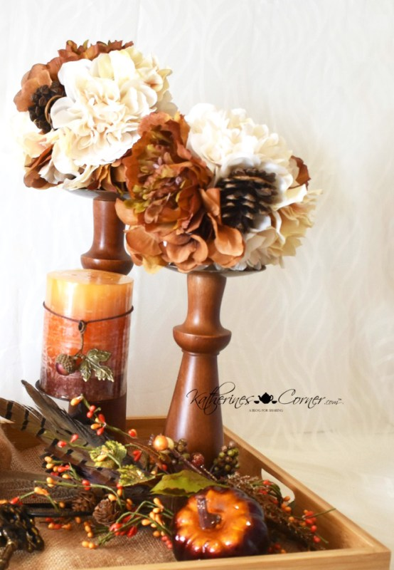 diy autumn tray vignette happy autumn katherines corner