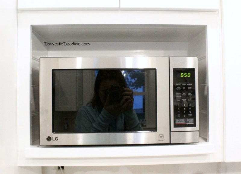 diy microwave cabinet with outlet