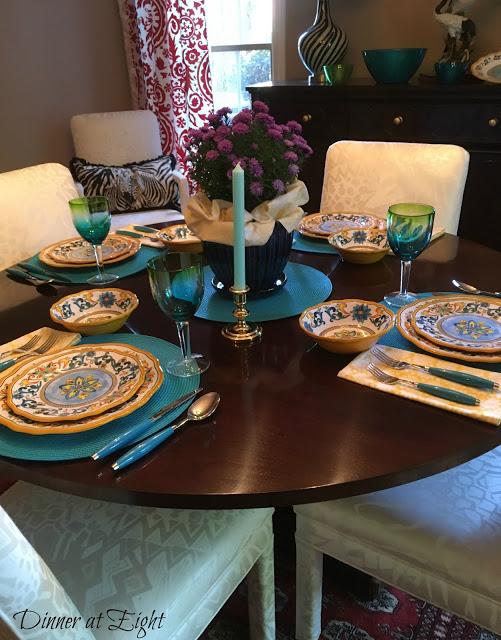 italian style tablescape