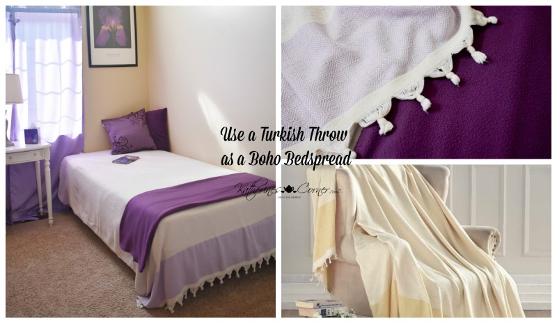 use a Turkish Throw as a boho bedspread