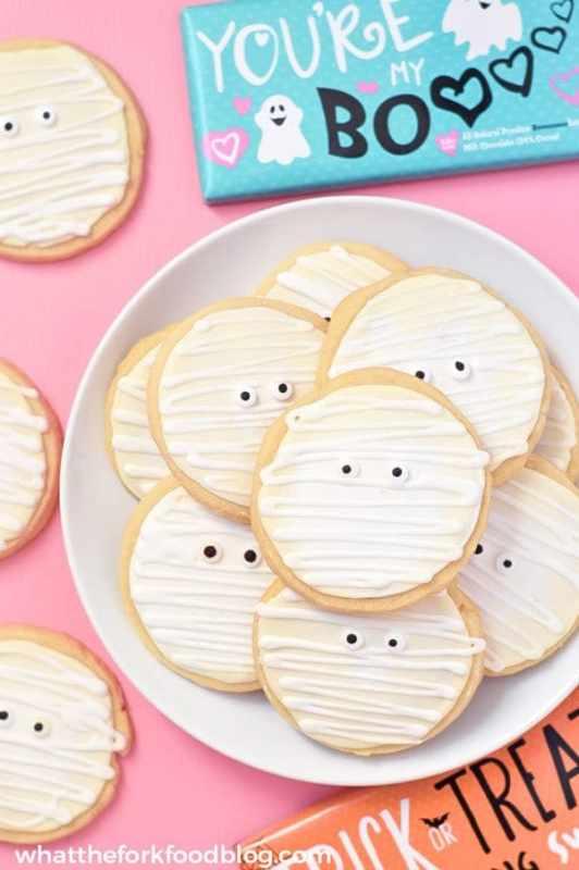 gluten free mummy cookies