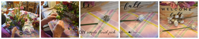 diy simple floral pick