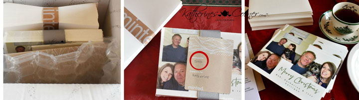 minted product review opening the box
