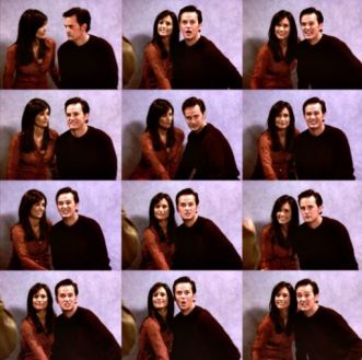 monica and chandler engagement photo