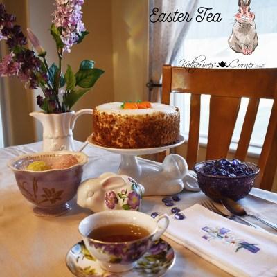 Easter tea and Carrot Cake