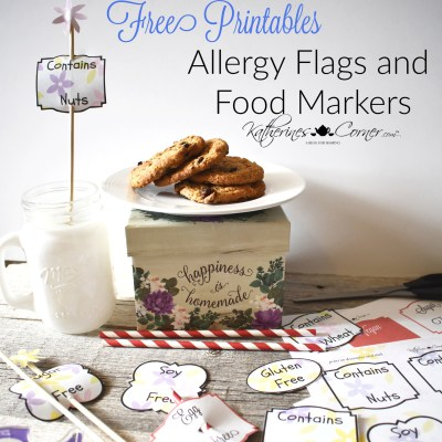 allergy food flag markers free printables katherines corner