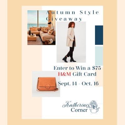 autumn style giveaway enter o win H&M gift card