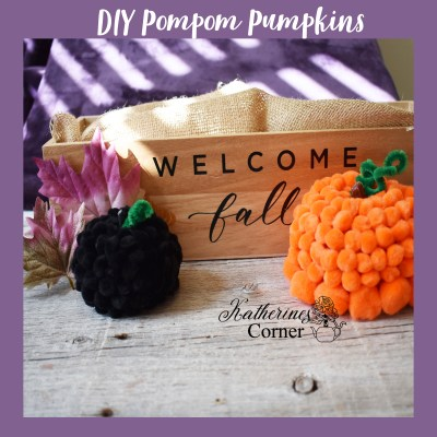 autumn diy pompom pumpkins