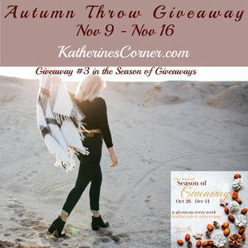 autumn throw giveaway inthe annual season of giveaways