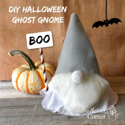 diy halloween ghost gnomekatherines corner