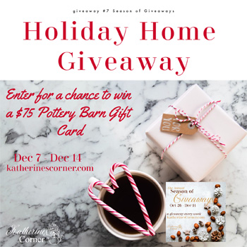 Holiday Home Giveaway starts  Dec 7