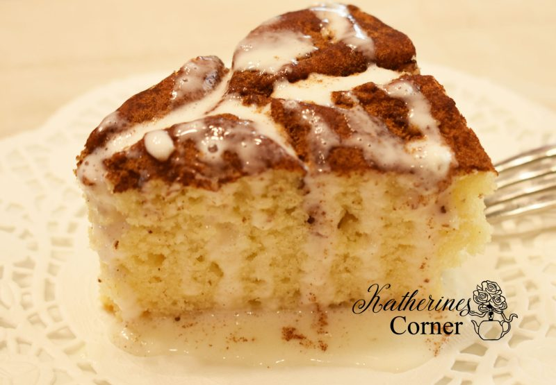coffee cake with cream