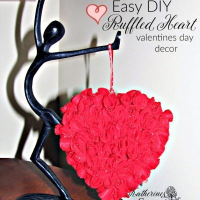 easy diy ruffled heart craft katehrines corner