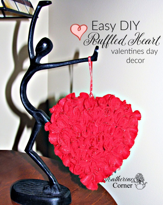 easy diy ruffled heart craft katehrines corner