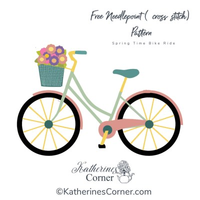 bicycle illustration for cross stitch