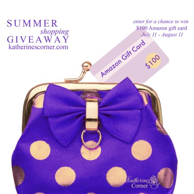 purple coin purse- amazon gift card giveaway