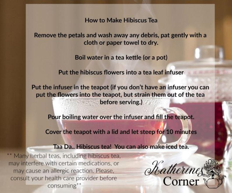 hibiscus tea katherines corner
