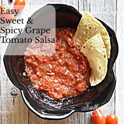 easy sweet and spicy grape tomato salsa
