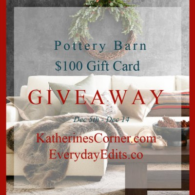pottery barn 100 dollar gift card giveaway