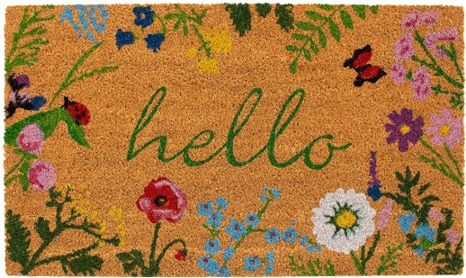 enter to win this hello doormat and cash too