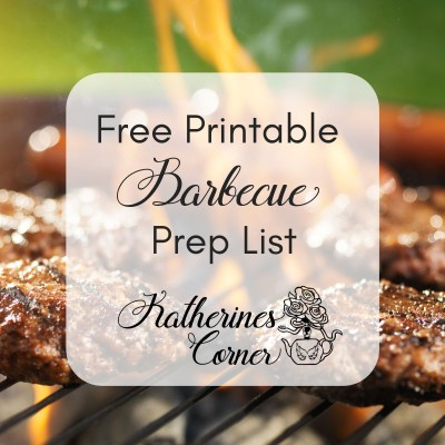 Free Printable Barbecue Prep List