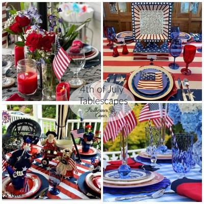 patriotic tablescapes and TFT blog hop
