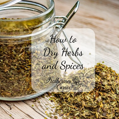 how to dry herbs and spices