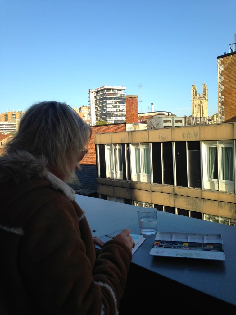 Painting rooftops in Bristol