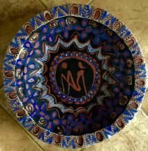 Decorated platter