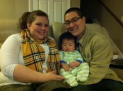 Uncle Cwiss and Sara Beth came to visit 10/25/14