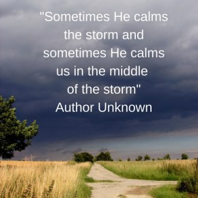 Morning Motivation;Calm in the Storm
