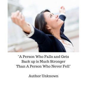 "Inspirational Quote ""A Person Who Falls and Gets Back up is…"""