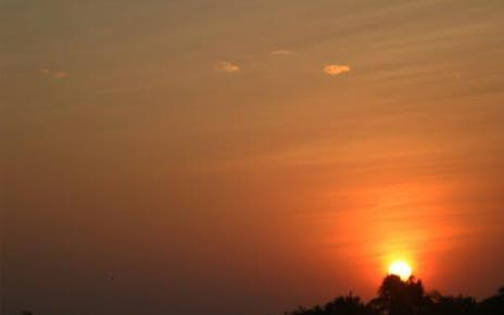 Sun Set at Madhavpur Ghed