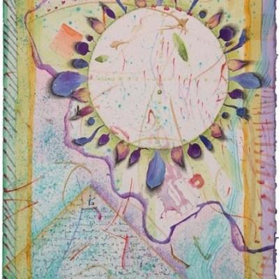 "Kathleen O'Brien, ""Spirit Drawing 2"", varnished collage"