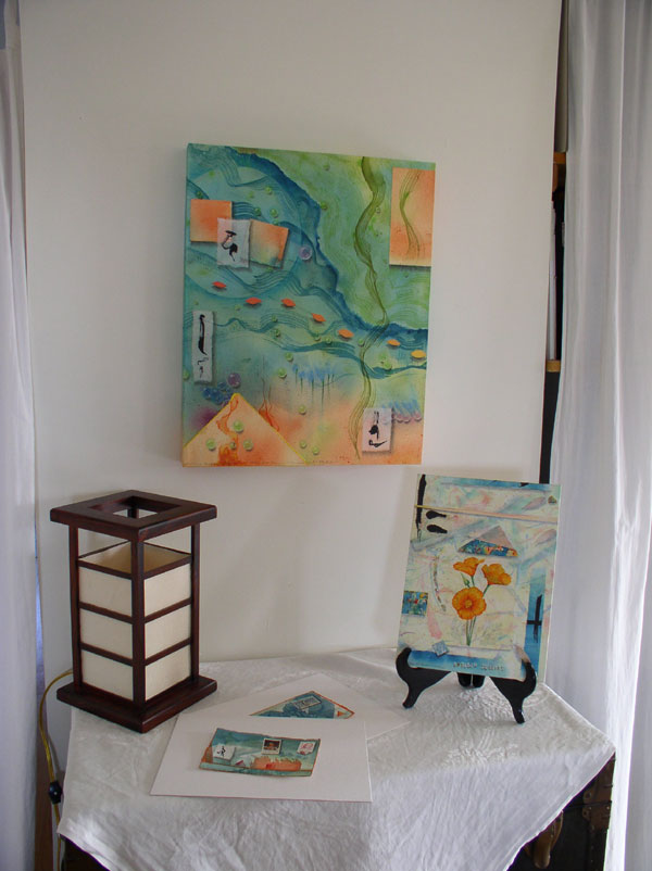 Art Display at Kathleen O'Brien Studio